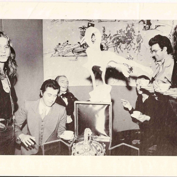Roxy Music meet Salvador Dali in Paris, c.1973