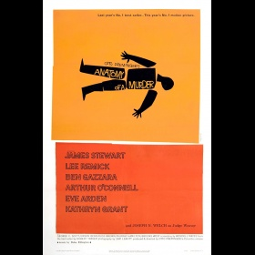 'Anatomy of a Murder' movie poster by Saul Bass