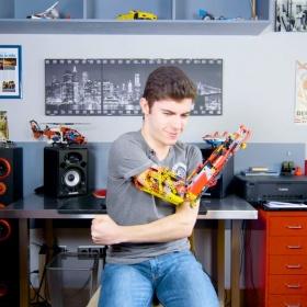 David Aguilar, an 18year old who built his own prosthetic arm out of LEGO